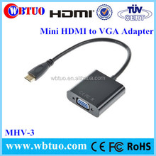 Hot selling Mini HDMI to vga rca cable