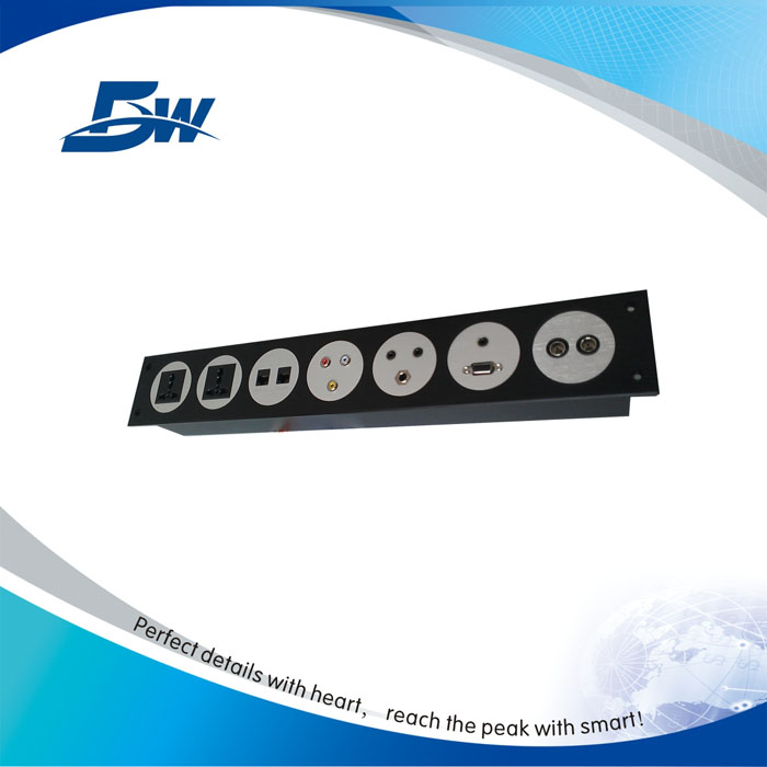 Multifunctional aluminium hdmi socket wall mount for meeting system