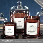 luxury scented candle with glass dome