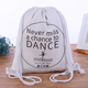 Eco friendly polyester fabric canvas cotton drawstring backpack bag
