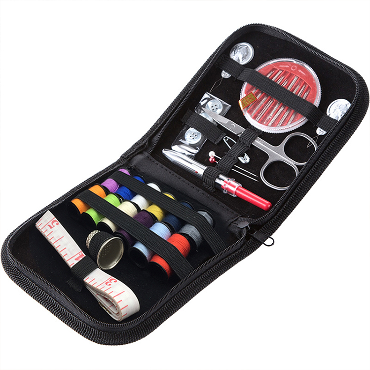Multifunktionales Reise-Werkzeug Nadel und Faden 24Pcs Suit Sewing Kit Box Set Hussif