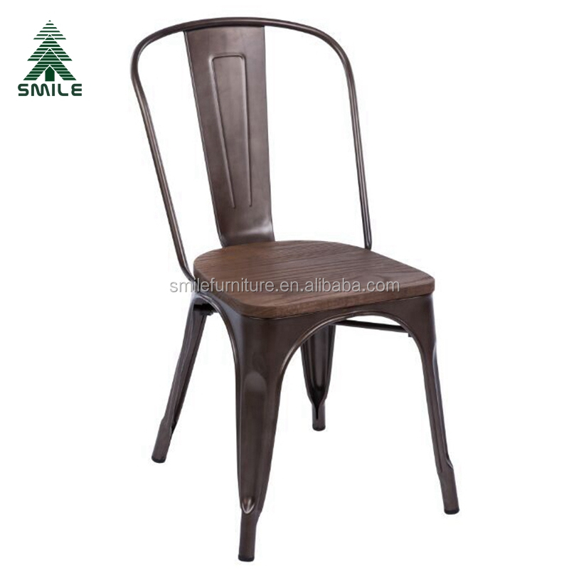 chair blue chairs small ticking s product legged vintage children kids metal