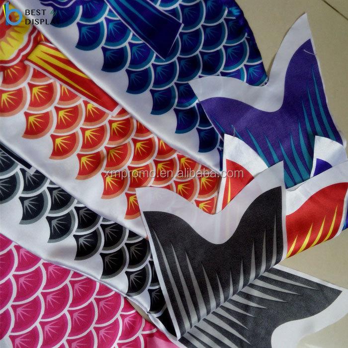 "6/"" Koi Nobori Carp Wind Sock Orange Koinobori Fish Kite Flag Hanging Decor"