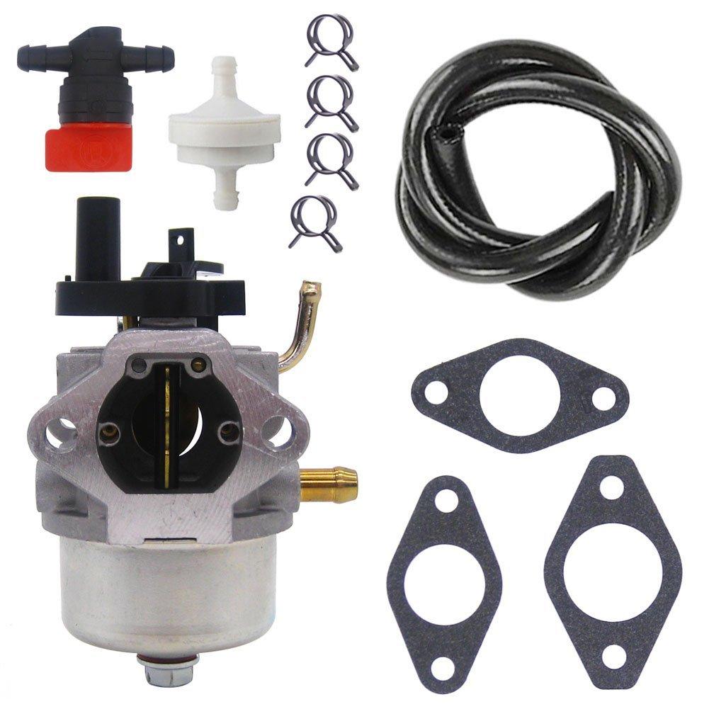 NIMTEK Carburetor with Fuel Line Filter Clamp Shut Off Valve For Briggs & Stratton 801396 801233 801255 Snow Blower Carburetor
