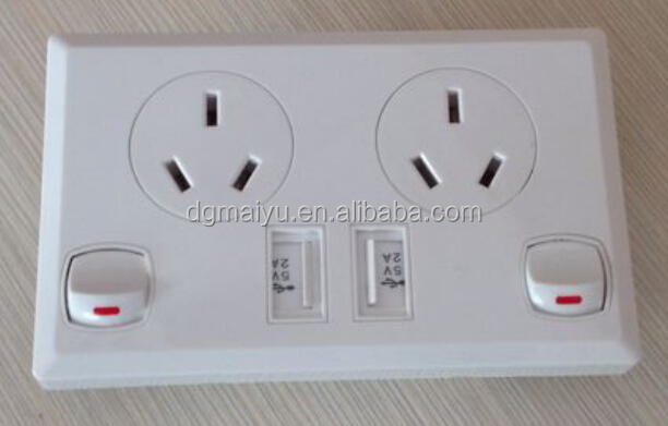 Uk Style Dual Usb Port Electric Wall Charger Station Socket ...