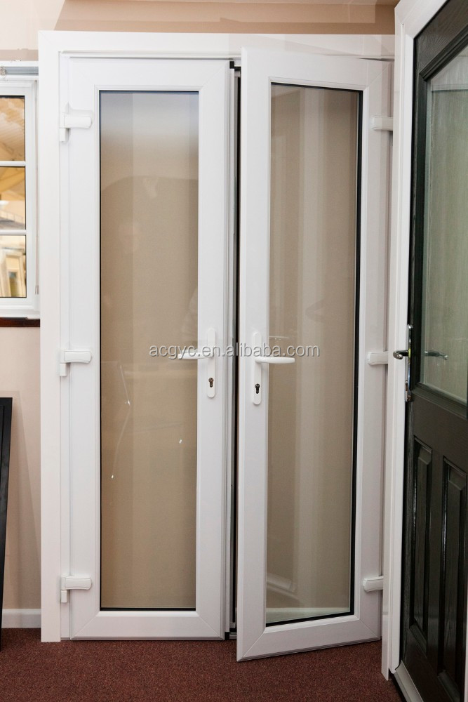 Aluminium verre double porte battante conception de maison moderne balcon por - Porte en verre battante ...