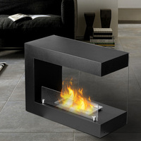 decorative modern indoor free stand ethanol fireplace heater