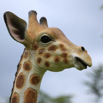 Large Garden Ornaments,fiberglass Giraffe Statue