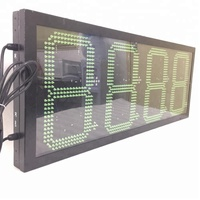 gas station 12inch 8888 sign display/ outdoor 4 digits gas price led signs/ led numbers display boards
