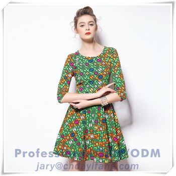european design ladies dresses,european chiffon woman clothes dresses,european cartoon printed dress