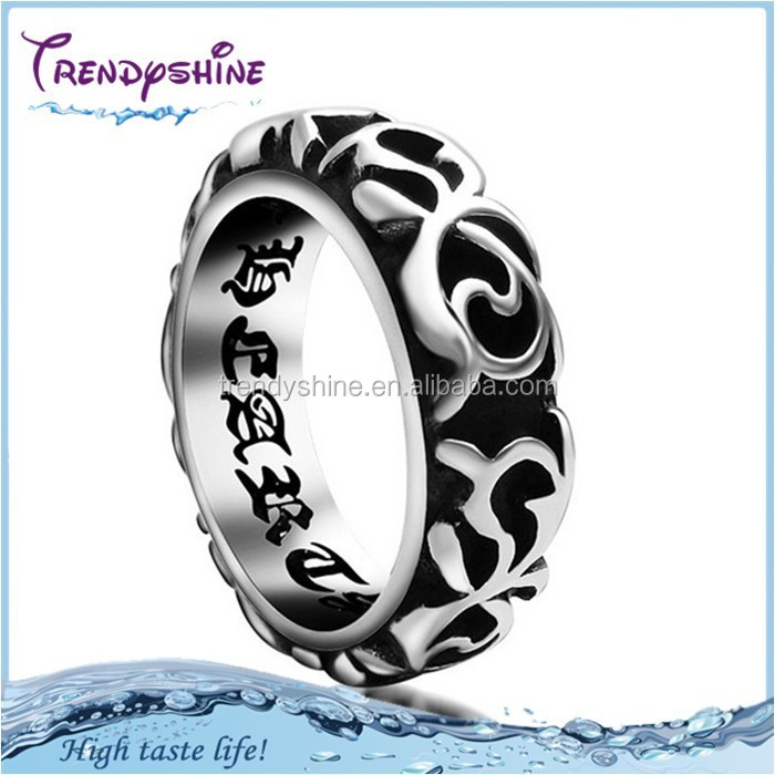 Latest design 2015 stainless steel heavy turkish man ring