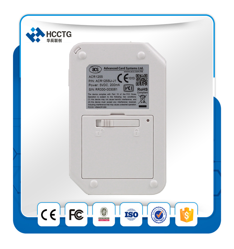 Acr1255u-j1 New! Acs Rfid Contactless Android Bluetooth Nfc Smart ...
