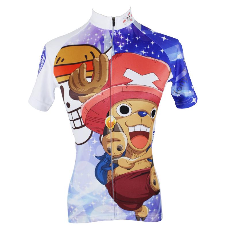 Get Quotations · Anime One Piece Tony Tony Chopper Women cycling clothing  Cartoon Short sleeve Lady Cycling Jersey 8500fc9d6