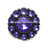 Purple Flower ShapeAcrylic Diamond Gems Sewing Buttons for Clothing
