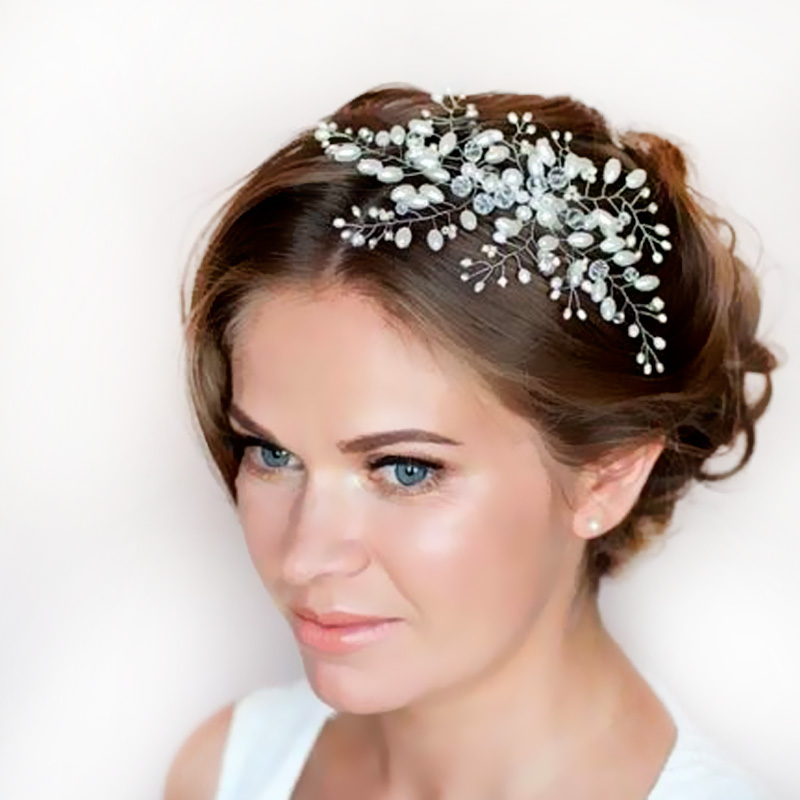New 2017 Imitation Pearl Bridal Hair Combs Hairpin Tiara Wedding Accessories Jewelry 1stl In Price On M Alibaba