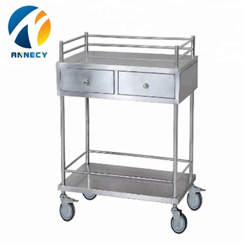 AC-SST013 medical products full 304 stainless steel material medical trolley cart for sale
