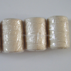 1.5mm 10s white color cotton twine rope