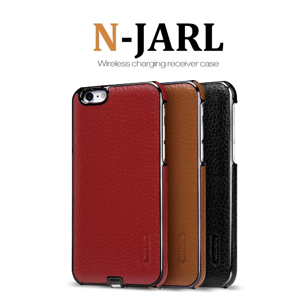 NEW NILLKIN N-Jarl WIRELESS CHARGING RECEIVER CASE MAGIC LEATHER CASE FOR IPHONE 6