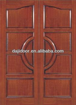Simple 10 Panel Teak Wood Double Door Designs Exterior Dj