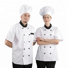 Mode zomer professionele <span class=keywords><strong>restaurant</strong></span> chef <span class=keywords><strong>uniform</strong></span>, korte mouwen chef <span class=keywords><strong>uniform</strong></span>