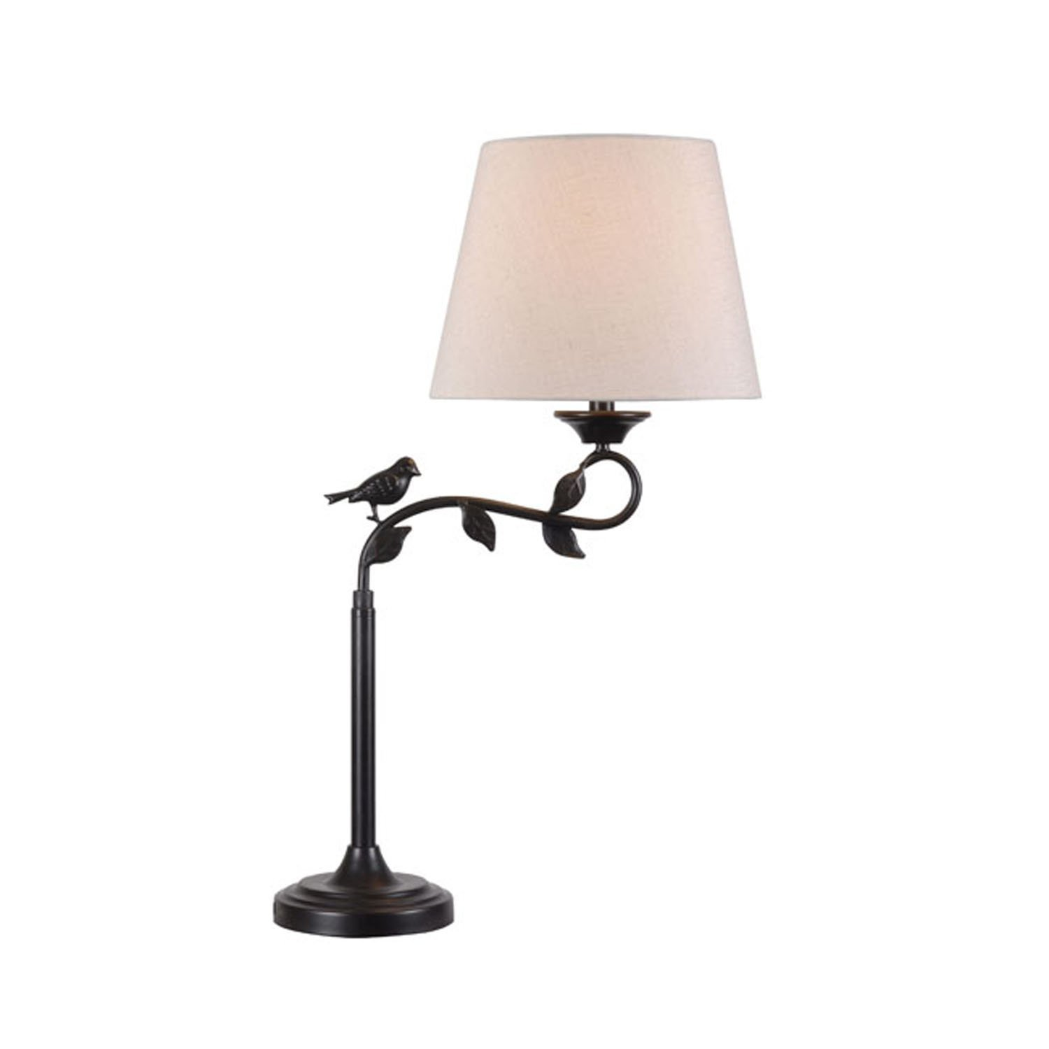 """Kenroy Home 32612ORB Birdsong Swing Arm Table Lamp, 7.48"""" x 30.5"""" x 19.25"""", Oil Rubbed Bronze Finish with Gold Highlights"""