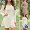 2015 OEM Womens Winter Long Sleeve Jumper Tops Knitted Sweater Bodycon Tunic Mini Dress Woman casual knitted blouse