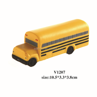 Simulated Yellow School Bus Polyurethane Toy,Promotional Gift