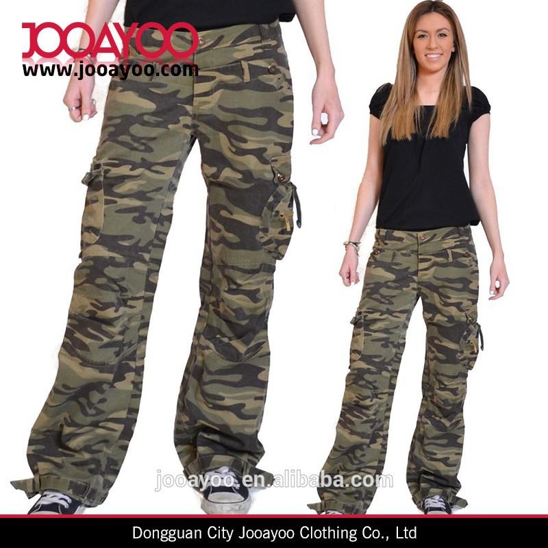 nouvelles femmes vert arm e militaire camouflage combat cargaison jeans pantalons pantalon. Black Bedroom Furniture Sets. Home Design Ideas