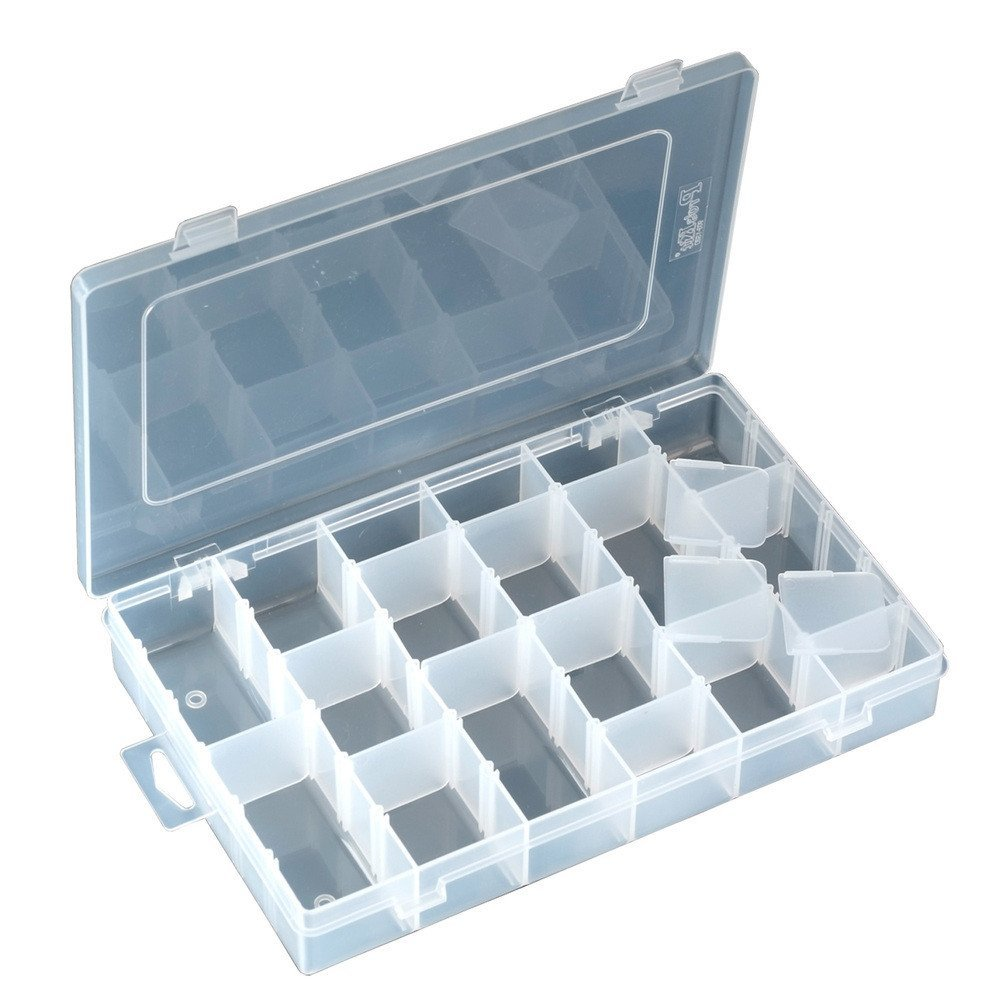 Pro39;skit 103-132D Component Storage Tool Box Electronic Component Box 36 Grids Activities Shatterproof Parts Box Patch Box
