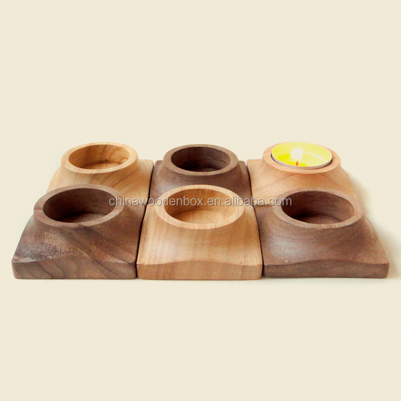 wood candle tray