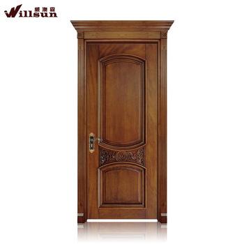 2015 teak houten deur van de slaapkamer villa prijs indian style design villa entree houten deur
