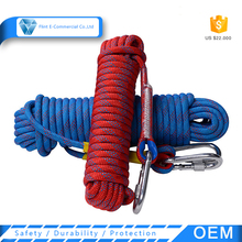 Wholesale Multi-color Outdoor Safety Polyester Survival Life Escape Rock Climbing Rope Gym Climbing Rope kids climbing rope