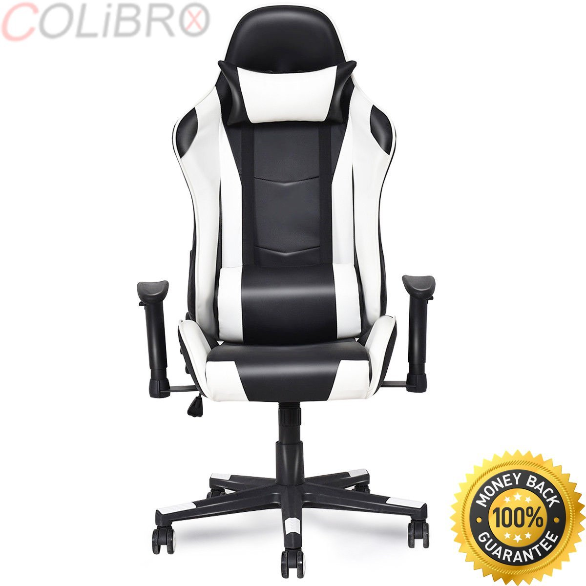 COLIBROX--Executive Racing Style High Back Recliner PVC Chair Gaming Chair Office Computer.executive racing style high back reclining chair gaming chair office computer.best gaming chair amazon.