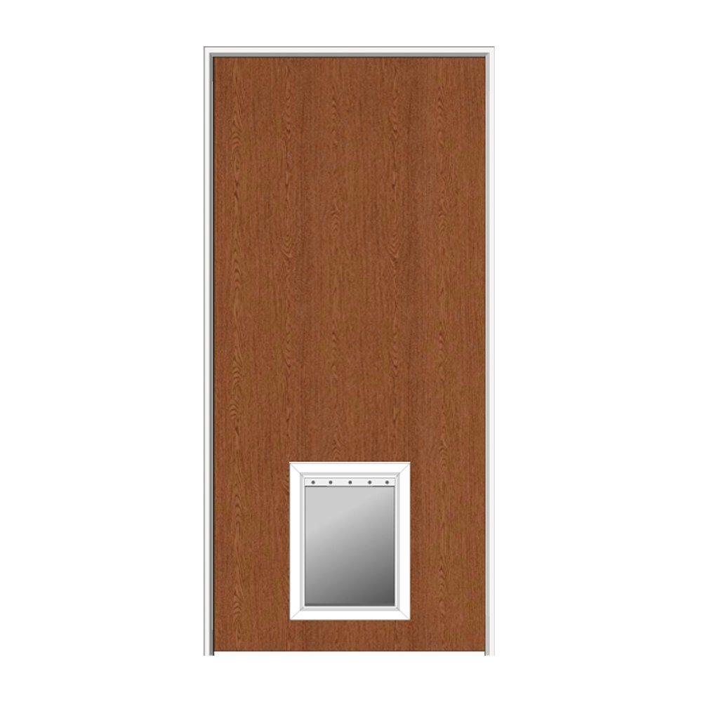 Get Quotations National Door Company Z0364450l Solid Core Flush Red Oak Left Hand Prehung Interior