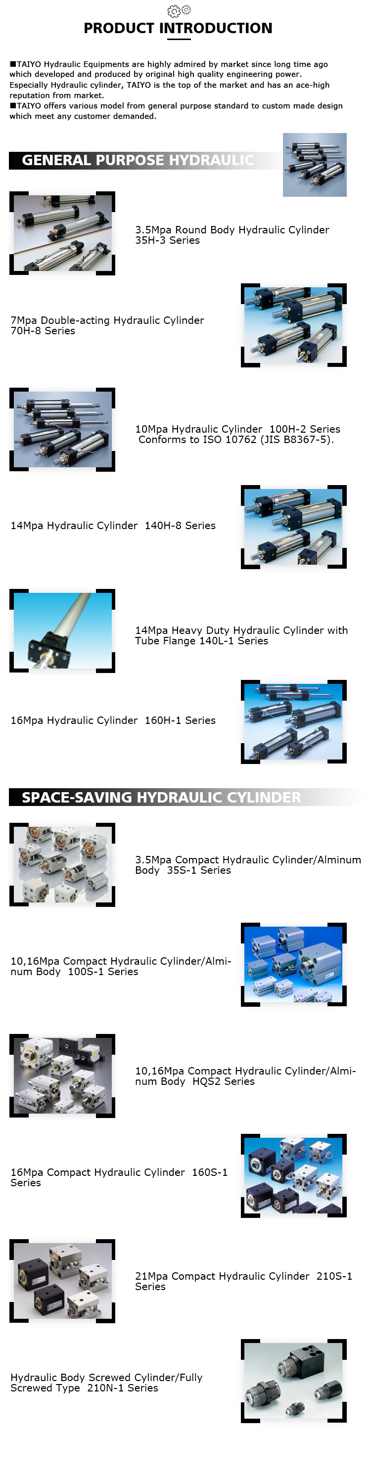 Japan hydraulic cylinder manufacture for export