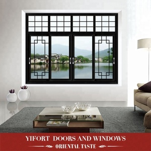 aluminium sliding weather proof large glass sash windows