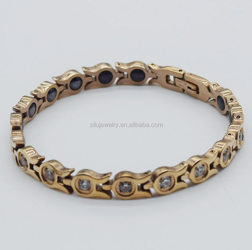 Zlh1008 Stainless Steel Diamond Gold Bracelet Designs Men - Buy ...