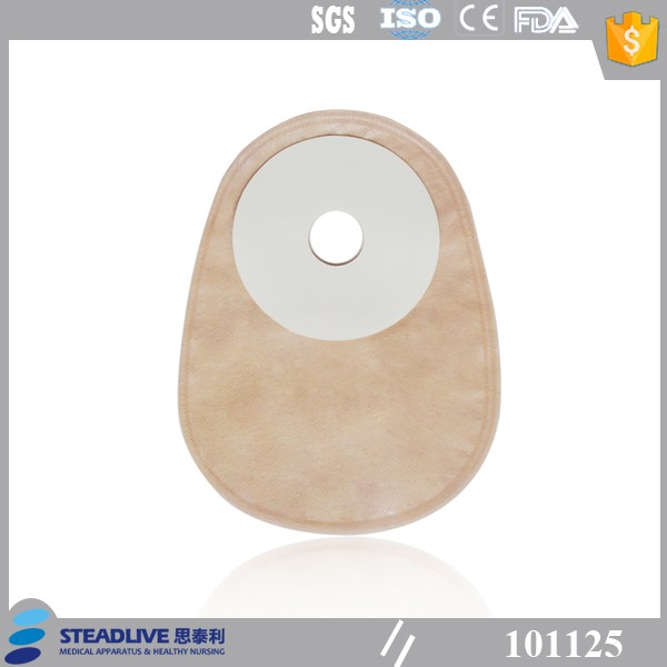 one piece closed colostomy bag with full hydrocolloid for ostomy