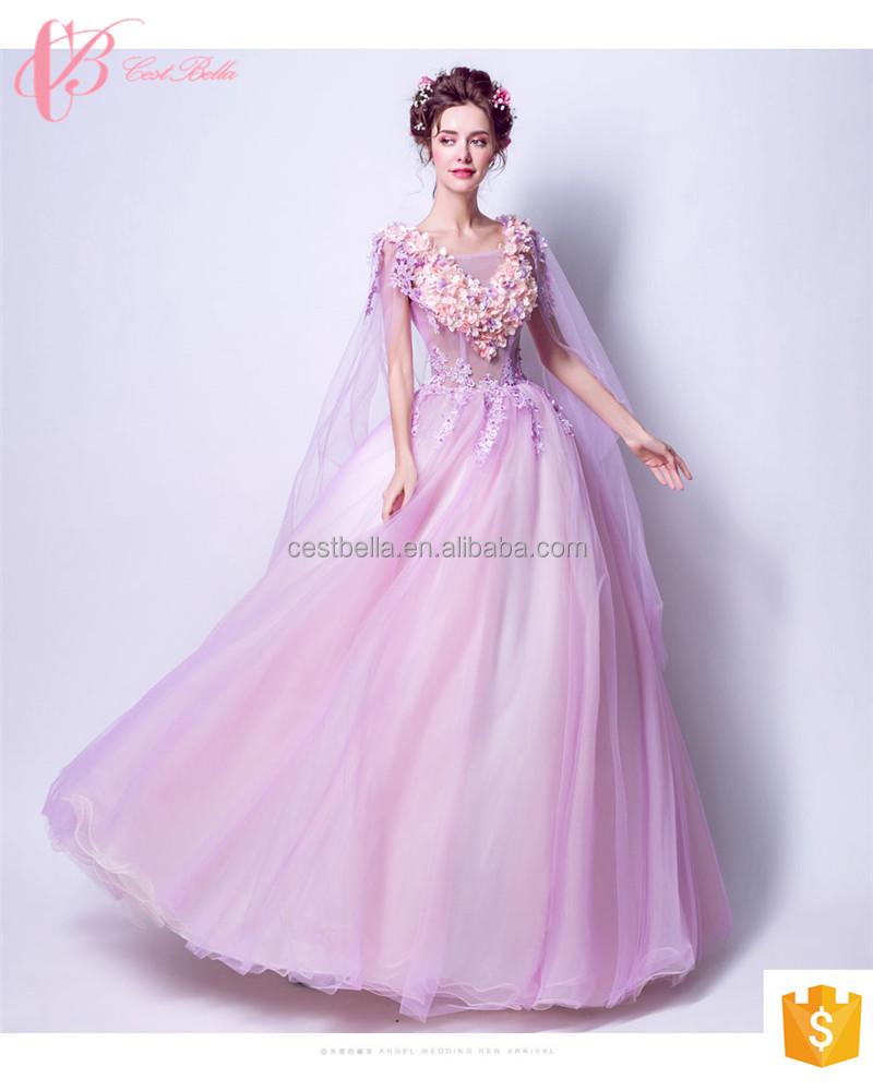 Rosa de encaje estilo coreano Alibaba al por mayor balón vestido ...