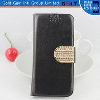 Diamond Wallet Case With Credit Card Holder For iPhone 4G, Multifunctional With Diamond Button For iPhone 4G