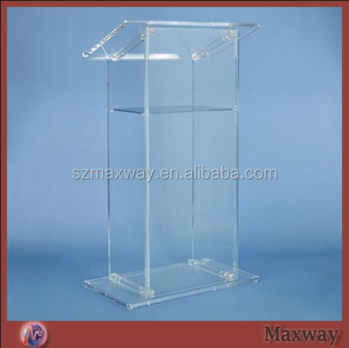 Acrylic Pulpit,Glass School Lectern,Organic Glass Dismountable Church Podium Stand