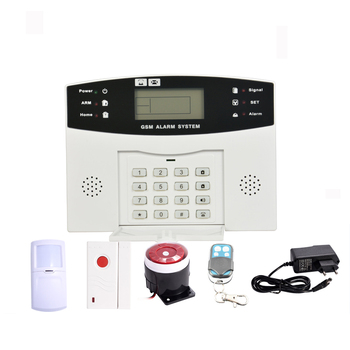 Wireless home burglar laser security gsm alarm system with LCD display and keypad