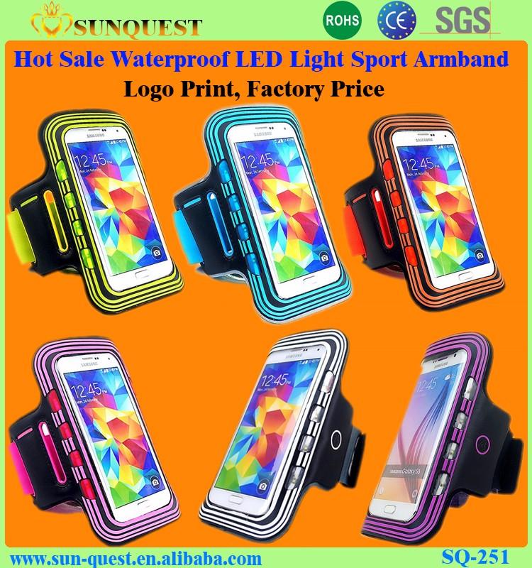 Ultra Thin Elastic Gym Armband Badge Holder Arm Band Case For ...