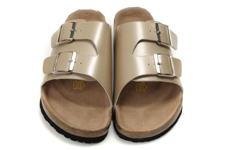 84237fb3864 Free shipping 2015 New Birkenstock Sandals genuine leather sandal shoes  women men flip flops summer beach sandals