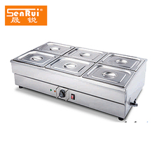 Commercial cooking equipment Stainless Steel Buffet Server table top electric bain marie with ce