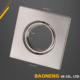 Iron MR16 Square Recessed Light Cover for Exhibition Halls