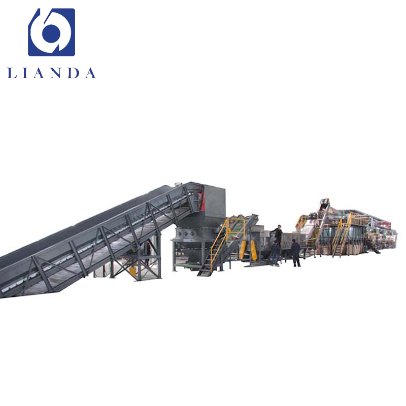 Waste plastic and tire recycling machine line plant