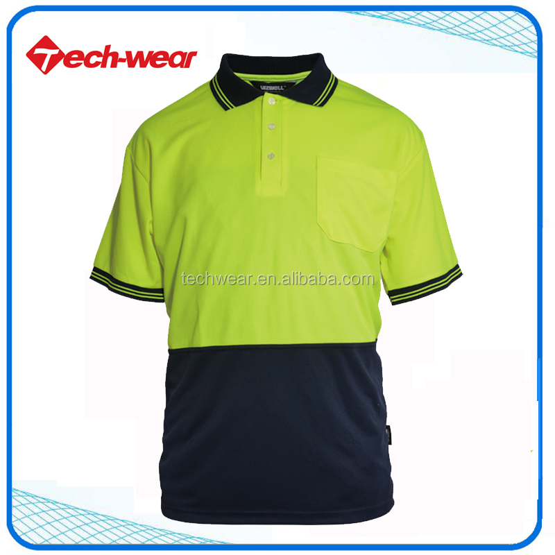High Visibility Reflective Work Mens t Shirts for men polo