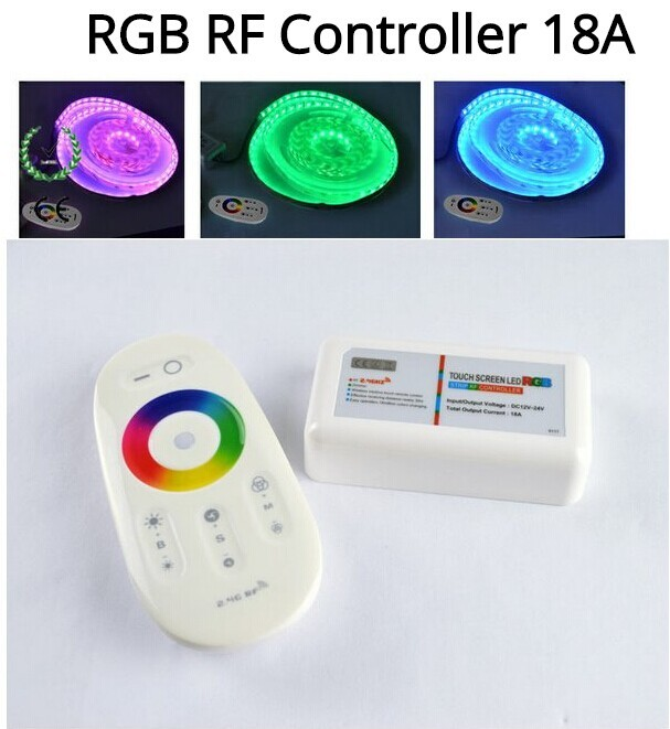 2.4G RF Remote Controller+Amplifier Kit+12V Power Adapter Driver +20M RGB 5050 IP65 60led/m tape flexiable rgb Led Strip