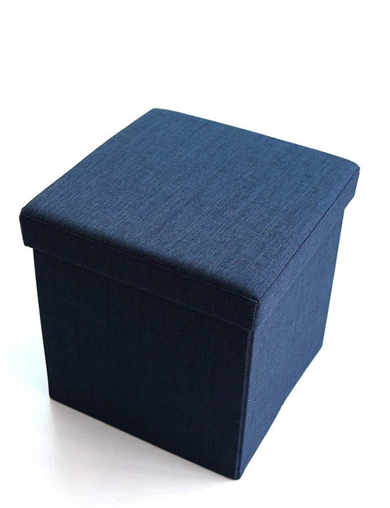 ZHANGRONG- Cloth Sofa Admission Sofa Stool Square Folding Storage Box Multi-functional Shoes For Stool Sofa Stool (Color Optional) (Color : A)